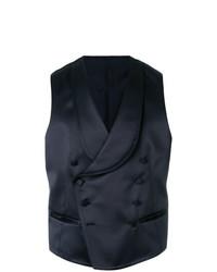 Tagliatore Asymmetric Button Up Waistcoat