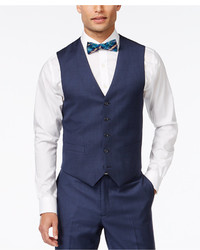 Tommy Hilfiger Blue Sharkskin Classic Fit Vest