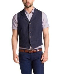 Hugo Boss Bodges R W Linen And Cotton Vest