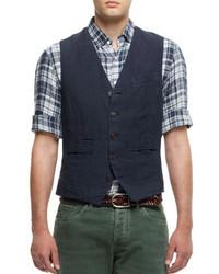 Brunello Cucinelli Five Button Cotton Waistcoat
