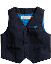 H&M Cotton Vest Dark Blue Kids