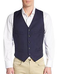 Giorgio Armani Pinstriped Virgin Wool Vest