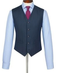 Charles Tyrwhitt Mid Blue Spencer Birdseye Slim Fit Business Suit Vest