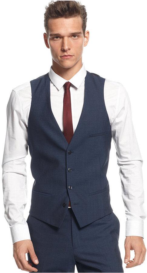 Bar Iii Midnight Blue Slim Fit Vest
