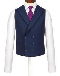 Charles Tyrwhitt Navy British Panama Classic Fit Luxury Suit Vest