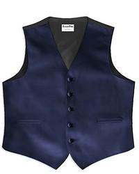 Plum Satin 5 Button Full Back Vest