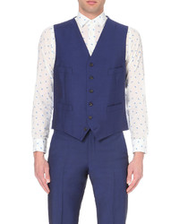 Richard James Satin Back Single Breasted Waistcoat