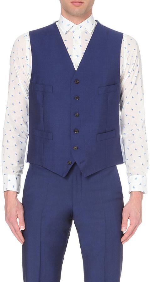 ... Waistcoats Richard James Satin Back Single Breasted Waistcoat ...