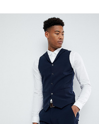 ASOS DESIGN Tall Super Skinny Fit Suit Waistcoat In Navy