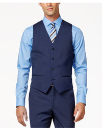 Alfani Traveler Medium Blue Solid Slim Fit Vest Only At Macys