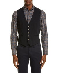 Eleventy Trim Fit Twill Cotton Vest