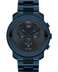44mm bold chronograph watch blue medium 610511