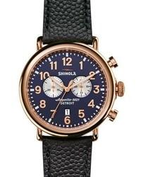 47mm runwell chronograph watch navy medium 843435