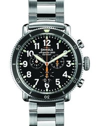 Shinola 48mm Runwell Sport Chrono Watch Stainless Steelblack