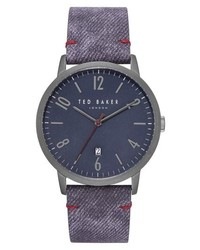 Ted Baker London Daniel Synthetic Strap Watch