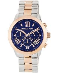MICHAEL Michael Kors Michl Michl Kors Jet Set 40mm Two Tone Chronograph Bracelet Watch