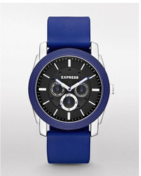 Express Rivington Multi Function Watch Blue