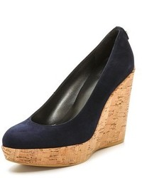 Stuart Weitzman Corkswoon Cork Wedge Pumps