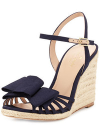 Kate Spade New York Biana Grosgrain Bow Wedge Sandal