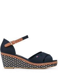 Tommy Hilfiger Patterned Wedge Sandals