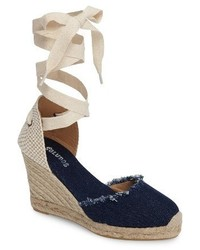 Soludos Wedge Lace Up Espadrille Sandal