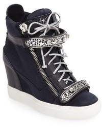 Giuseppe Zanotti Giuseppe For Jennifer Lopez Tiana Hidden Wedge Sneaker
