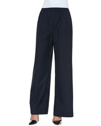 Navy wide leg pants original 4542077