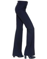 Chloé Stretch Crepe Wool Pants