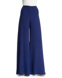 Ralph Lauren Collection Adele Bicolor Wide Leg Pants Royal Navy
