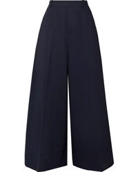 Marni Cotton And Twill Wide Leg Pants