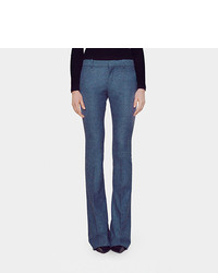 Gucci Wool Flannel Skinny Flare Pant