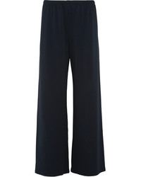 The Row Lala Stretch Jersey Wide Leg Pants Midnight Blue