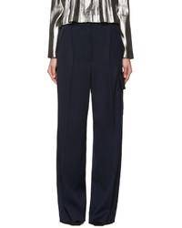 Loewe Navy Wide Leg Cargo Trousers