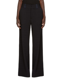 See by Chloe See By Chlo Navy Wide Leg Trousers