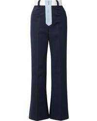 Miu Miu Tech Jersey Wide Leg Pants