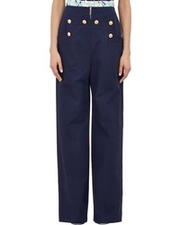 Kenzo Twill Sailor Trousers Blue Size 44 Fr