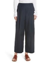Vince Wide Leg Polished Cotton Pants