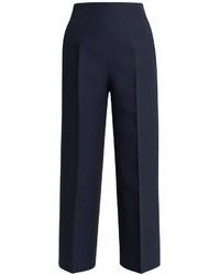 Fendi Wide Leg Wool Blend Trousers