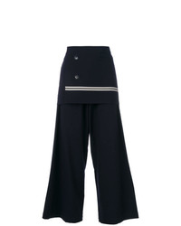 Y's Wrap Front Palazzo Pants