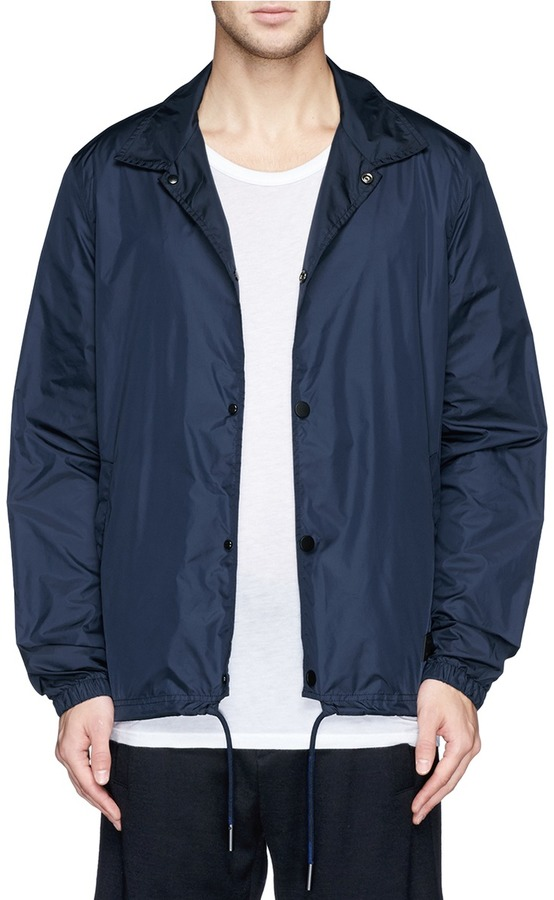 Navy Blue Windbreaker Jacket - Pl Jackets