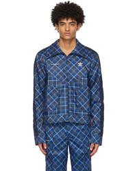 Wales Bonner Blue Adidas Edition Tartan Track Jacket