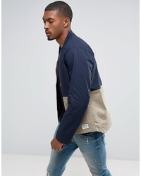 Tom Tailor Bomber Jacket With Open Hem And Colour Panel Detail