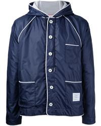Thom Browne Contrast Trim Rain Jacket