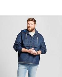 Goodfellow Co Big Tall Popover Windbreaker Jacket Goodfellow Co Washed Navy