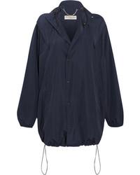 Balenciaga Hooded Shell Windbreaker Jacket Midnight Blue