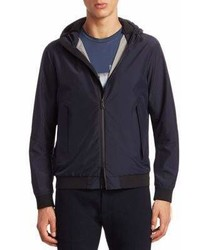 Emporio Armani Hooded Zip Front Windbreaker