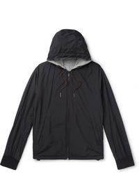 Ermenegildo Zegna Layered Shell And Mlange Cashmere Blend Hooded Jacket
