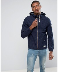 Tom Tailor Light Weight Hooded Jacket In Flecked Cotton