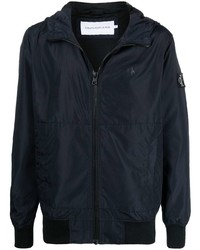 Calvin Klein Jeans Logo Patch Zip Up Hooded Jacket