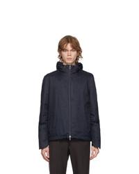 Herno Navy Down Herringbone Jacket